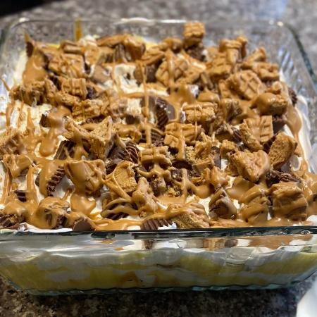 Peanut Butter Cookie Lasagna
